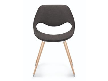 Upholstered fabric chair and beech legs LITTLE PERILLO XS | Fabric chair