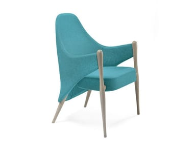 Upholstered fabric easy chair with armrests LIV | HEALTH & CARE | Easy chair with armrests