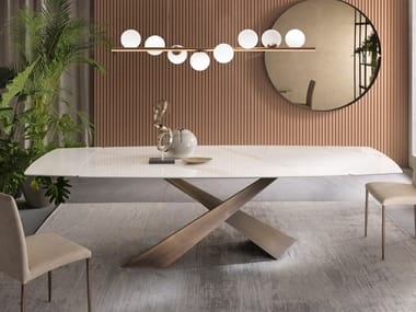 Extending ceramic table LIVING | Extending table