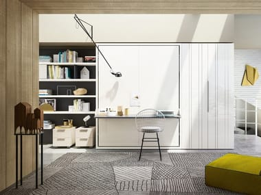 Sectional modular storage wall LIVING & YOUNG SYSTEM