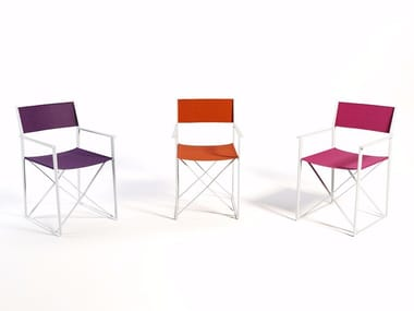 Folding garden chair with armrests LIVIS