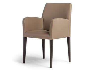 Sedia in pelle con braccioli LIZ | Sedia con braccioli
