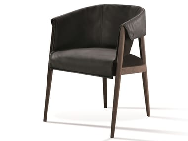 Leather easy chair with armrests LIZA | Easy chair
