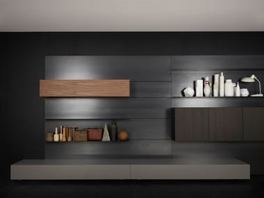 Contemporary style wall-mounted sectional bookcase LOAD-IT | Bookcase