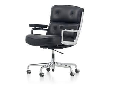 Cadeira executiva giratória de pele LOBBY CHAIR ES 104