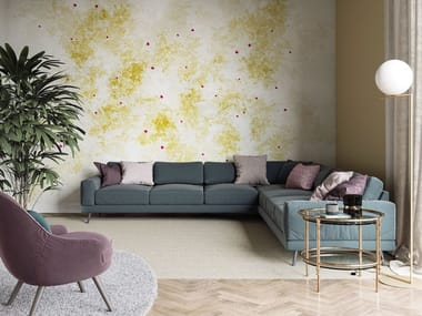 Contemporary style panoramic fabric wallpaper strip LOCATION/DISLOCATION