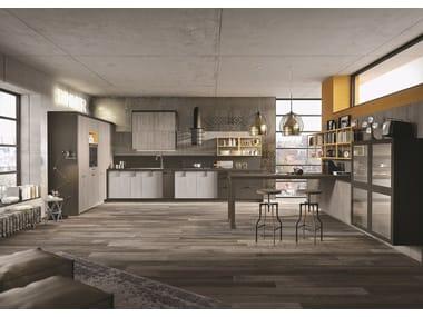 Cucina componibile lineare su misura in stile moderno LOFT | Cucina lineare