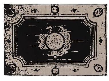 Patterned handmade Bamboo silk rug LOFT S97D