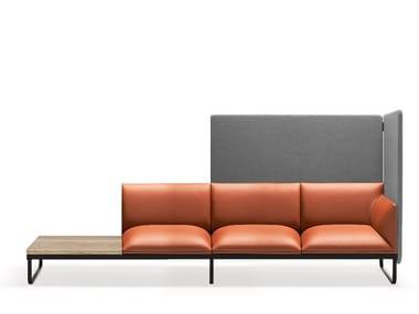 Sled base sectional leather sofa LOFT X | Sectional sofa