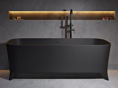 Rectangular Solid Surface bathtub LOFTY BLACK