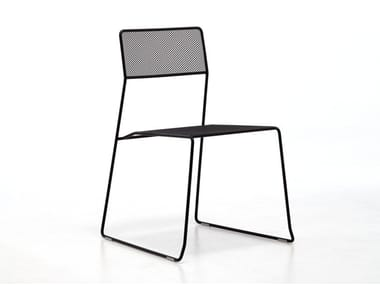 Stackable steel garden chair LOG MESH