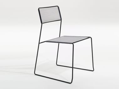 Stackable garden chair LOG SPAGHETTI