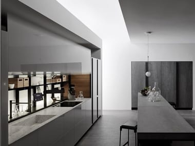 Glass kitchen without handles LOGICA CELATA