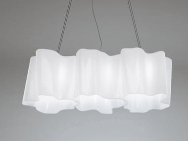 Blown glass pendant lamp LOGICO 3 | Pendant lamp