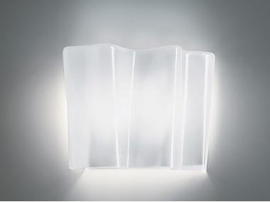 Direct light blown glass wall lamp LOGICO | Wall lamp