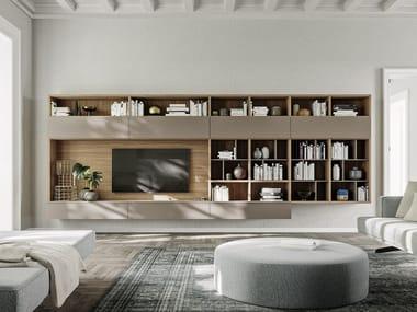 Sectional floating bookcase LOGIKO   Floating bookcase