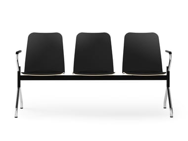 Beam seating with armrests LOGOCHAIR | Beam seating
