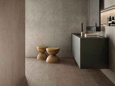 Pavimento/rivestimento in gres porcellanato effetto legno LOGOS TAUPE | Pavimento/rivestimento