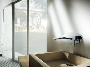 Miscelatore per lavabo a 2 fori a muro LOGOS | Miscelatore per lavabo a muro
