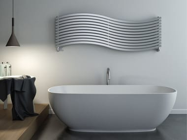 Hot-water brushed steel decorative radiator LOLA OR SATIN