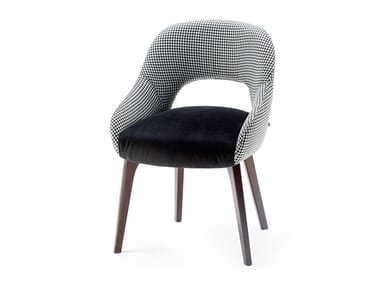Upholstered fabric chair with armrests LOLA | Chair