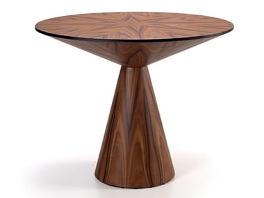 Round wood veneer dining table LOLA | Dining table