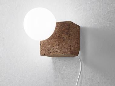 Lampada da parete a LED in sughero LOLIPOP   Lampada da parete