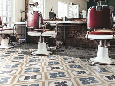 Porcelain stoneware wall/floor tiles with encaustic effect LONDON