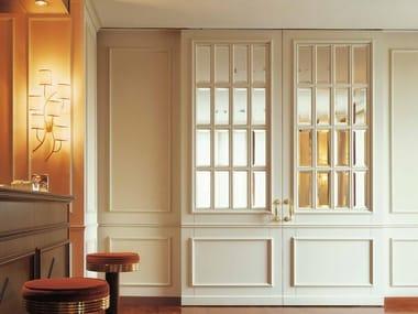 Hinged wood and glass door LONDRA