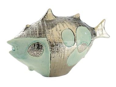 Scultura in ceramica PESCE POP LUNGO