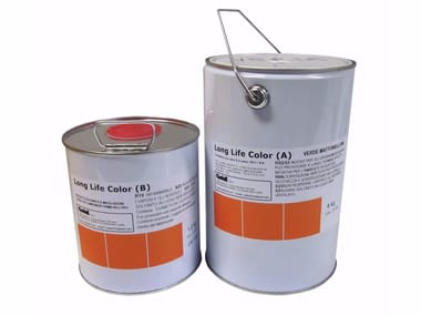 Dye and protective paint for schockproof floorings LONGLIFE