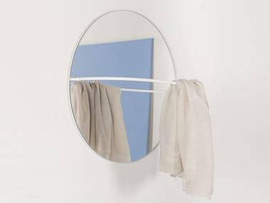 Steel mirror / coat rack LOOP