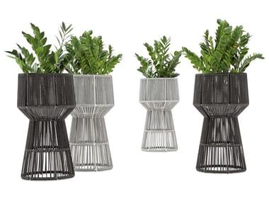Vaso da giardino alto in PVC LOOP | Vaso da giardino