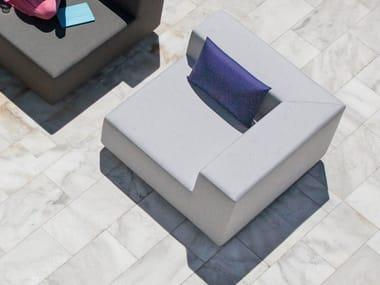 Corner sectional modular garden armchair LOOP | Corner garden armchair