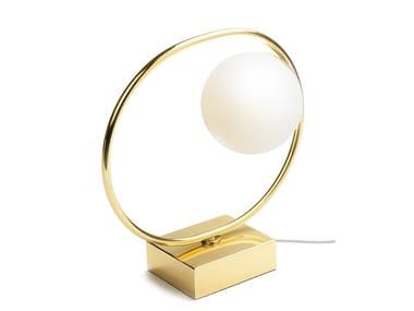 LED metal table lamp LOOP TABLE