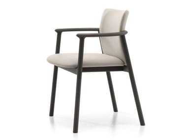 Upholstered chair with armrests LORD 02