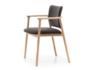 Ash chair with armrests LORD 22
