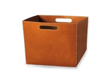 Tanned leather storage box LORENZONE | Storage box