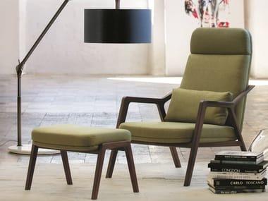 High-back fabric armchair LORETTA   Fabric armchair