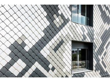 Metal shingle for facades LOSANGA 20