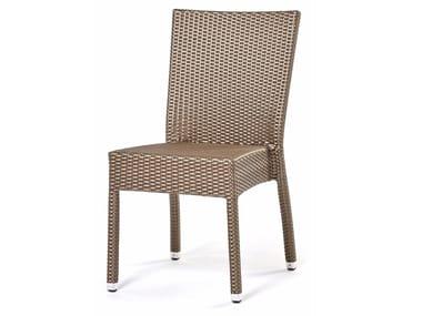 Sedia in fibra sintetica intrecciata LOTUS | Sedia
