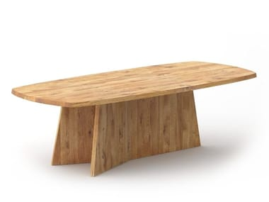 Solid wood table LOTUS