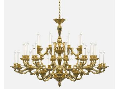 Lampadario a luce diretta in ottone in stile Luigi XIV LOUIS HISTORIC DESIGN
