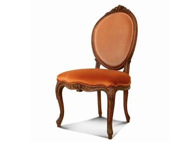 Sedia a medaglione in velluto LOUIS XV | Sedia