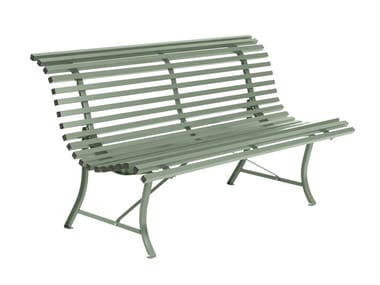Steel Bench with back LOUISIANE