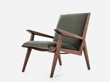 Fabric easy chair with armrests LOUNGE CHAIR