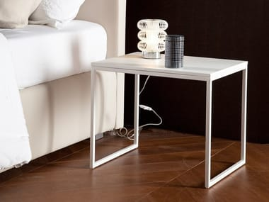 Square wood-product bedside table LOUNGE