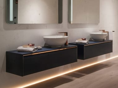 Wall-mounted vanity unit with drawers LOUNGE | Wall-mounted vanity unit