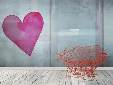 Papel de parede lavável pop art de vinil LOVE PAINT