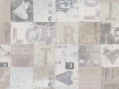 Papel de parede com escrita LOVE & PATCH | Papel de parede